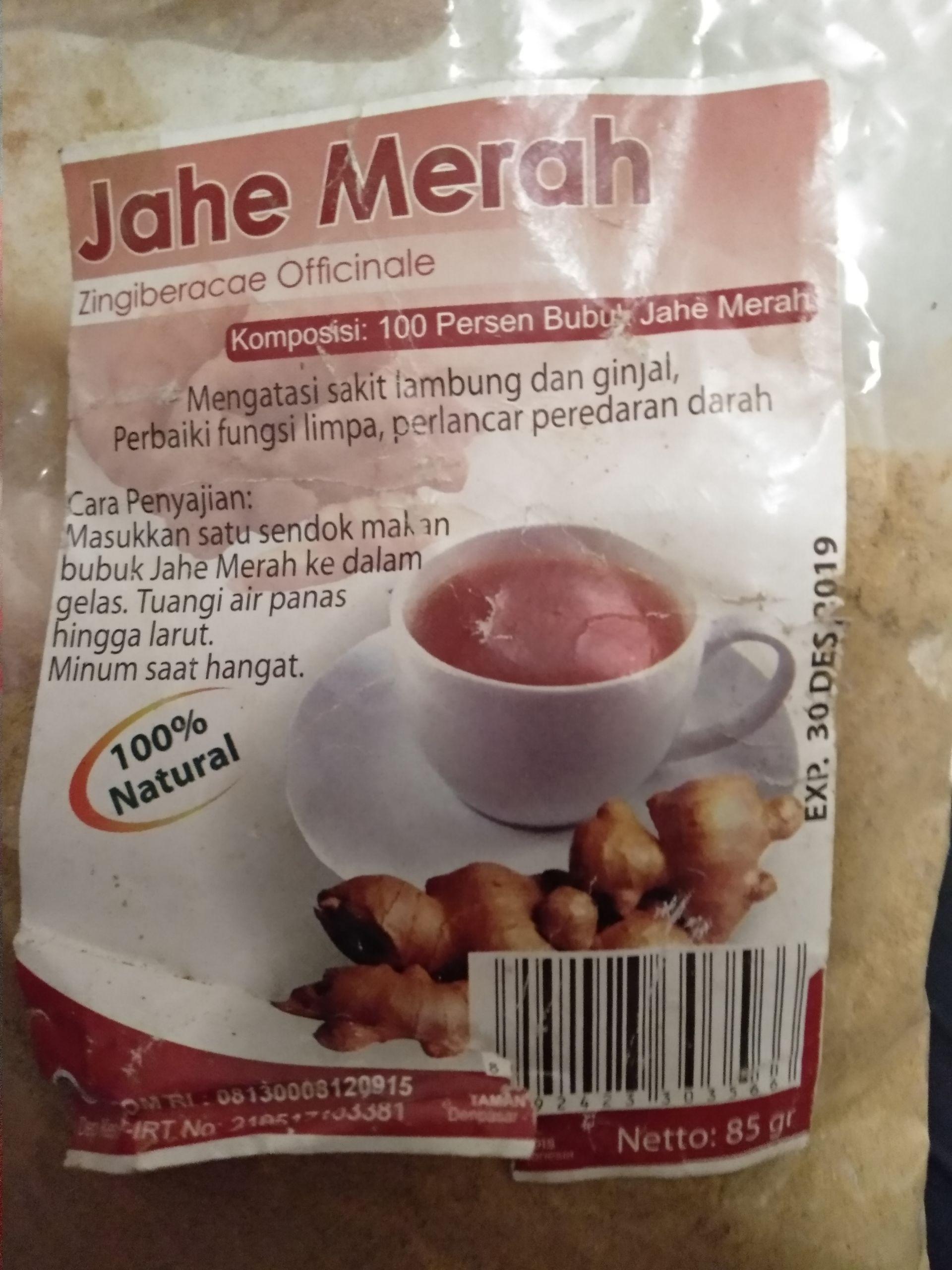 красный имбирь(jahe mirah)